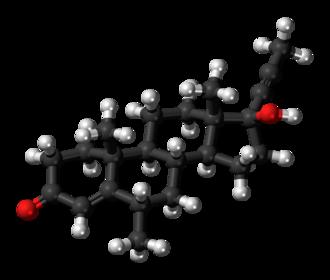Dimethisterone - Image: Dimethisterone 3D ball