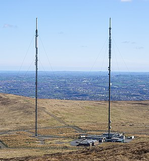 Divis transmitting station Radio and television transmission facility in Northern Ireland