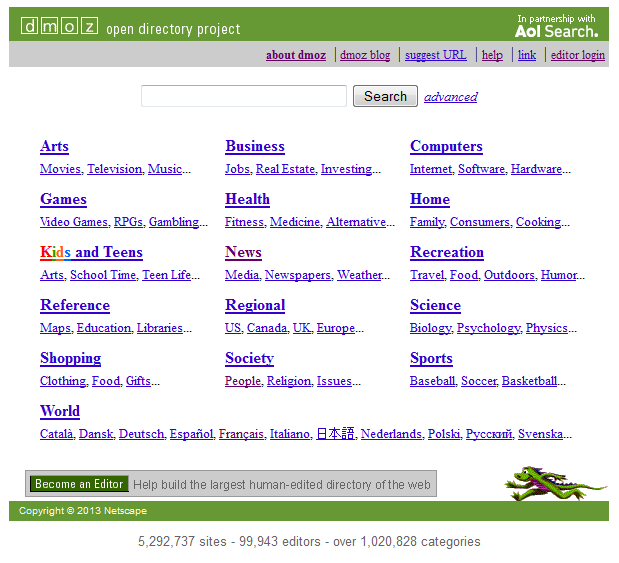 Dmoz - Open Directory Project