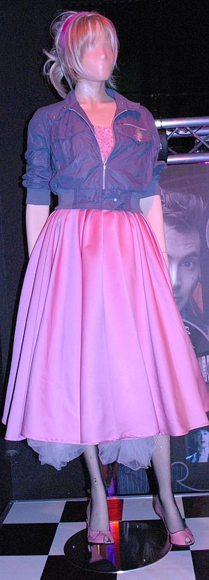 The Idiot's Lantern - Rose's costume for the episode, as shown at the Doctor Who Experience.