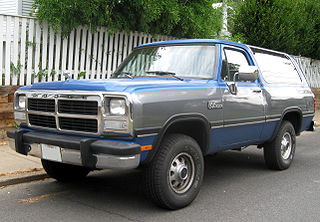 Dodge Ramcharger Motor vehicle