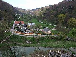 Ojców - Prądnik river valley outside Ojców village, part of the Ojców National Park and castle located nearby