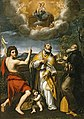 Domenichino - The Madonna of Loreto Appearing to St. John the Baptist, St. Eligius, and St. Anthony Abbot 60 17 51.jpg