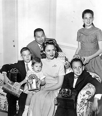 Donna Reed - Reed, Tony Owen, and their four children in 1959. Standing is Penny Jane; seated from left are Tony, Jr., Mary and Tim.