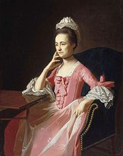 Dorothy Quincy, Mrs John Hancock, by John Singleton Copley, ca 1772