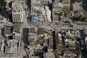 Downtown Port au Prince after earthquake