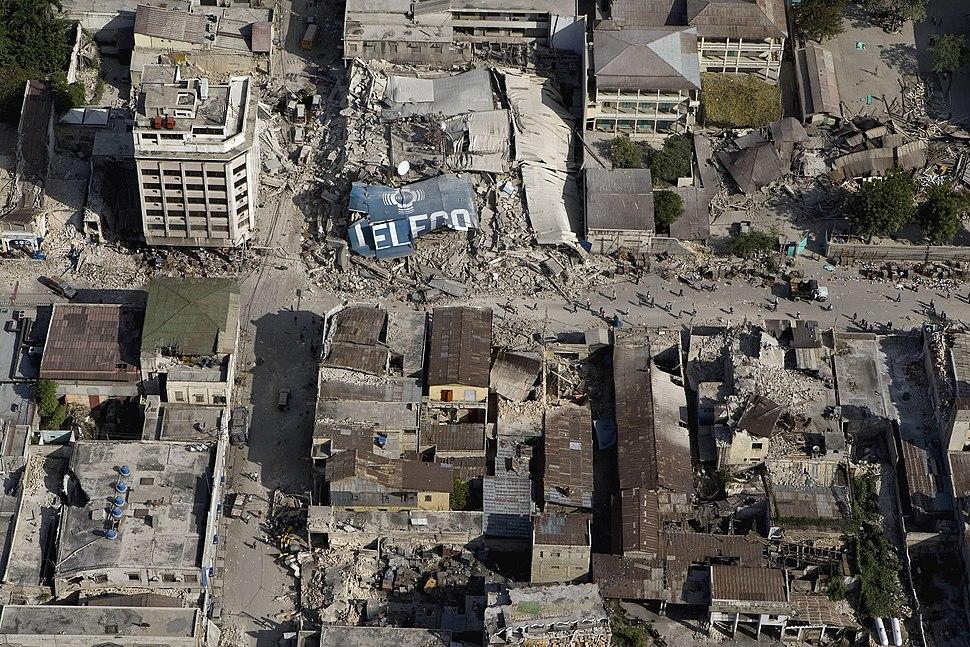 Downtown Port au Prince after earthquake