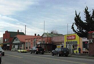Tigard, Oregon - Main Street in Downtown