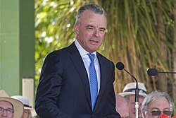 Dr Brendan Nelson launching the Centenary of the Kangaroo March