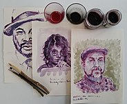 Drawings made with twigs and self-made natural inks..jpg