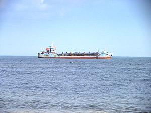 Mundakkal Beach - Image: Dredger Hansitha at Kollam coast, Aug 2014