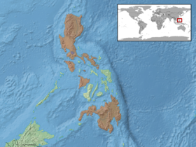 Dryophiops philippina distribution.png