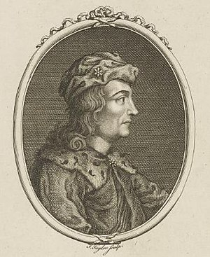 Dub, King of Scotland - 17th-18th century un-realistic depiction of Dub by J. Taylor, he probably looked nothing like this at all.