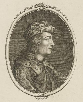 Dub, King of Scotland - 17th-18th century depiction of Dub by J. Taylor.
