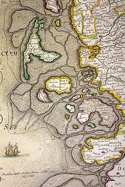Ducatus Sleswicum sive Iutia Australis -map of Johannes Blaeu