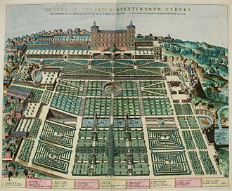 Villa d'Este - The Villa and gardens in 1560–1575