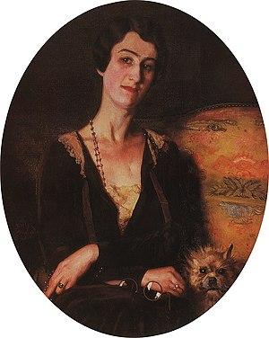 Ivan Bilibin - E. S. Pits-Bilibina; portrait by Konstantin Somov