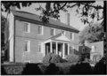 EAST FRONT FROM SOUTHEAST, CLOSE VIEW - Kenmore, 1201 Washington Avenue, Fredericksburg, Fredericksburg, VA HABS VA,89-FRED,1-54.tif