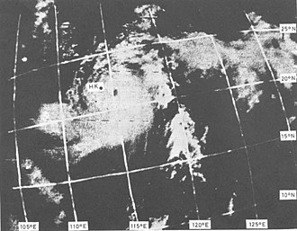 1968 Pacific typhoon season - Image: ESSA 6 Typhoon Shirley 11.21 a.m. on August 21,1968