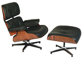 Charles and Ray Eames - Eames Lounge (670) and Ottoman (671) circa 1956