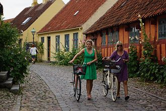 Mols Bjerge National Park - Ebeltoft, in the National Park, historical town centre