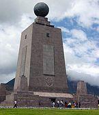 Ecuador SanAntoniodePichincha MitaddelMundo Monument.JPG