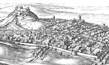 Edinburgh in the 17th century Edinburgh in the 17thC (detail) by Wenceslas Hollar (1670).jpg