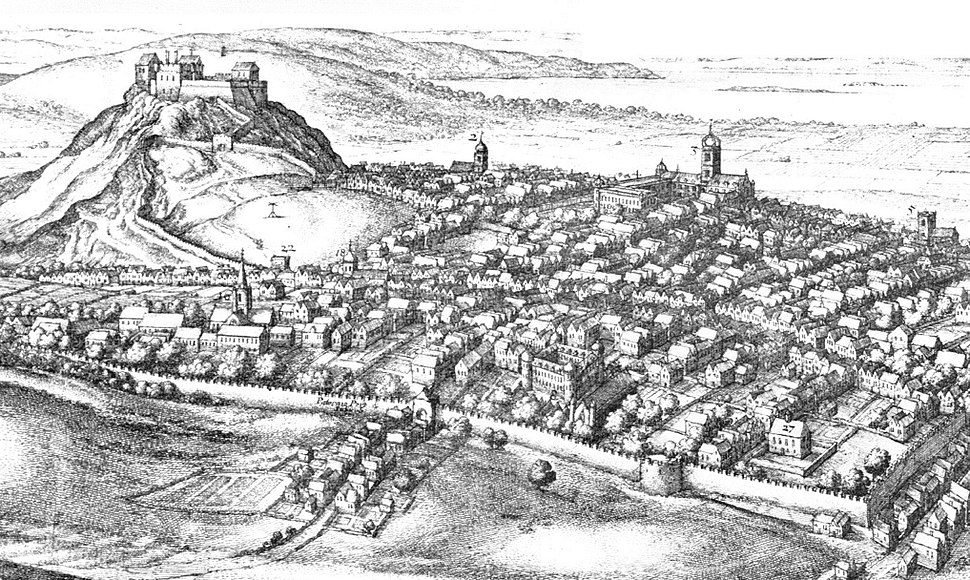 Edinburgh in the 17thC (detail) by Wenceslas Hollar (1670)