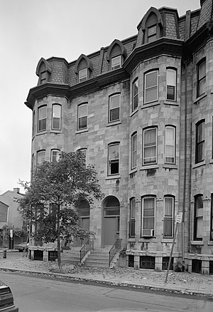 Edward Drinker Cope - Image: Edward Drinker Cope Houses, 2100 2102 Pine Street, Philadelphia (Philadelphia County, Pennsylvania)
