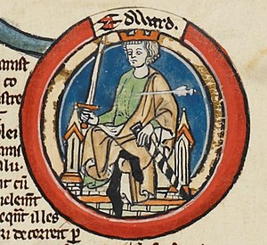 Edward the Martyr - Edward in an early fourteenth century Genealogical Roll of the Kings of England