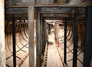 Edwin Fox - Interior of the hull of Edwin Fox