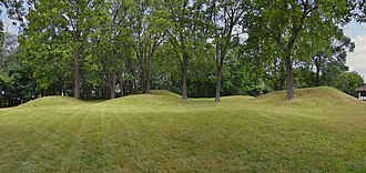 Mendota Mental Health Institute - Effigy mounds from the Late Woodland Period (ca. 650 AD to 1200 AD) on the grounds of the Mendota Health Institute.