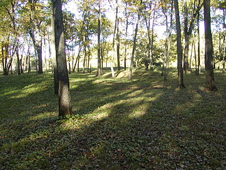 Iowa archaeology - Woodland conical mounds at Effigy Mounds National Monument, Sny Magill Unit, Clayton County, Iowa.