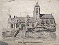 Eglise de Chaourse Lithographie de Jean-François Villain.jpg