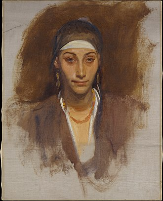 Egyptian Woman with Earrings - Image: Egyptian Woman with Earrings MET DT212008