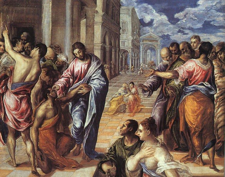 El Greco - Christ Healing the Blind - WGA10420