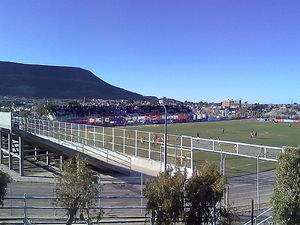 Comisión de Actividades Infantiles - The Stade Municipal de Comodoro Rivadavia in a game where CAI faced Defensa y Justicia