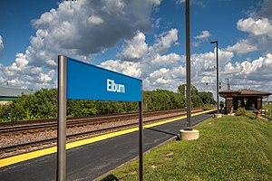 Elburn station - Image: Elburn IL Metra station platform