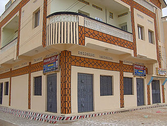 Galkayo - An electronics store at a Galkayo shopping mall.