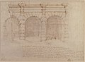 Elevation of Giulio Romano's House (recto); the Ruins from the Caelius Aqueduct and Temple of Claudius in Rome (verso) MET 49.56.15 VERSO.jpg