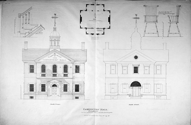 Elevation Plan Wiki : Carpenters hall