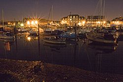 Eling Tide Mill at night