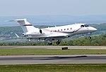 Embraer Legacy 500 (G-TULI) lands Bristol Airport 14May2019 arp.jpg
