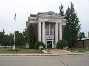 Emerson, Manitoba - Court house and former town hall, built in 1917.