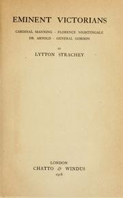 Eminent Victorians title page
