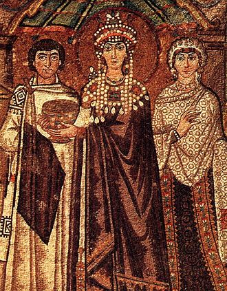 Theodora (6th century) - Mosaic of Saint Theodora