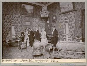 En skandal, Svenska teatern 1901. Föreställningsbild - SMV - H13 004.tif