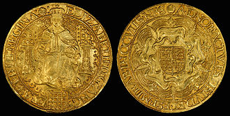 Sovereign (English coin) - Image: England (Great Britain) Sovereign of Elizabeth I