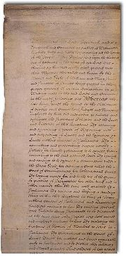 The English Bill of Rights of 1689, which further curtailed the monarch's governmental power