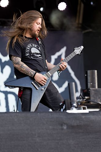Entombed A.D. - Guitarist Nico Elgstrand with Entombed A.D. at the Rockharz Open Air 2016 in Germany